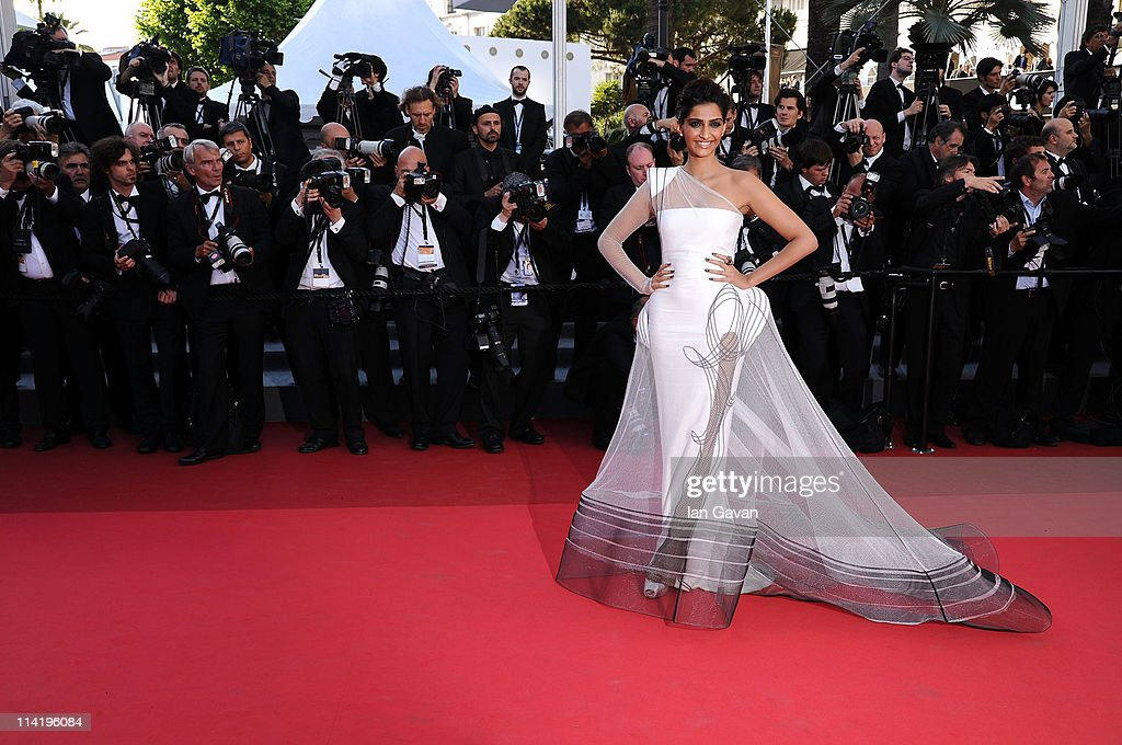 Sonam Kapoor attends 'The Artist' premiere at the Palais des Festivals during the 64th Annual Cannes Film Festival on May 15, 2011 in Cannes, France.