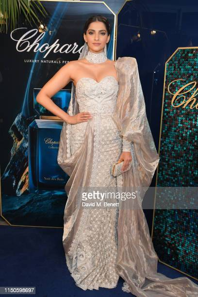 Sonam Kapoor attends the Chopard Parfums 'La Nuit Des Rois' dinner party hosted by Caroline Scheufele and Patrizio Stella at Hotel Martinez on May...