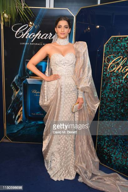 Sonam Kapoor attends the Chopard Parfums 'La Nuit Des Rois' dinner party hosted by Caroline Scheufele and Patrizio Stella at Hotel Martinez on May 20...