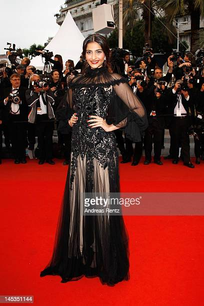 Sonam Kapoor attends the Closing Ceremony and 'Therese Desqueyroux' premiere during the 65th Annual Cannes Film Festivalon May 27 2012 in Cannes...