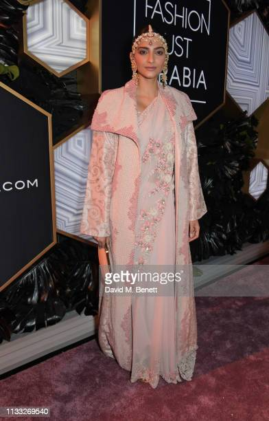 Sonam Kapoor attends the Fashion Trust Arabia Prize awards ceremony on March 28 2019 in Doha Qatar