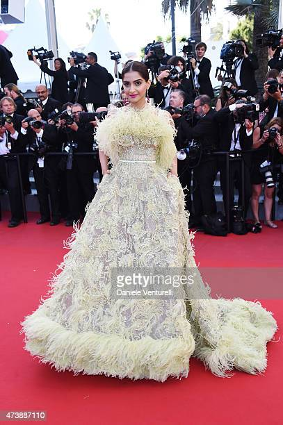 Sonam Kapoor attends the 'Inside Out' Premiere during the 68th annual Cannes Film Festival on May 18 2015 in Cannes France