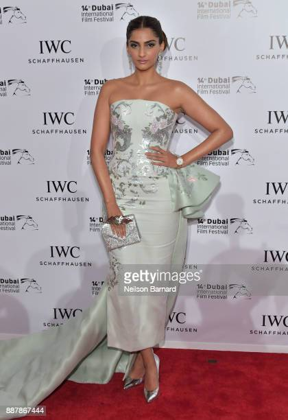 Sonam Kapoor attends the IWC Filmmakers Award on day two of the 14th Annual Dubai International Film Festival held at the One and Only Hotel on...