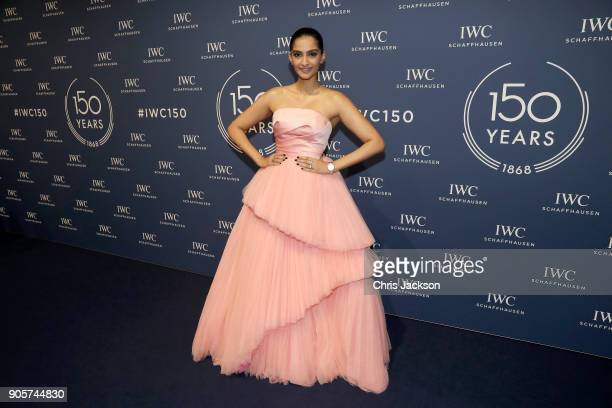 Sonam Kapoor attends the IWC Schaffhausen Gala celebrating the Maison's 150th anniversary and the launch of its Jubilee Collection at the Salon...