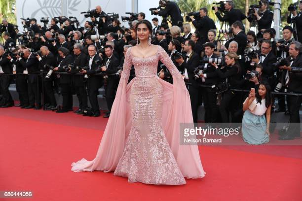 Sonam Kapoor attends 'The Meyerowitz Stories' screening during the 70th annual Cannes Film Festival at Palais des Festivals on May 21 2017 in Cannes...