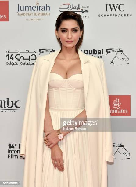 Sonam Kapoor attends the Opening Night Gala of the 14th annual Dubai International Film Festival held at the Madinat Jumeriah Complex on December 6...