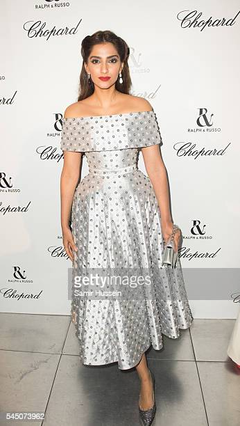 Sonam Kapoor attends the Ralph Russo And Chopard Host Dinner as part of Paris Fashion Week on July 4 2016 in Paris France
