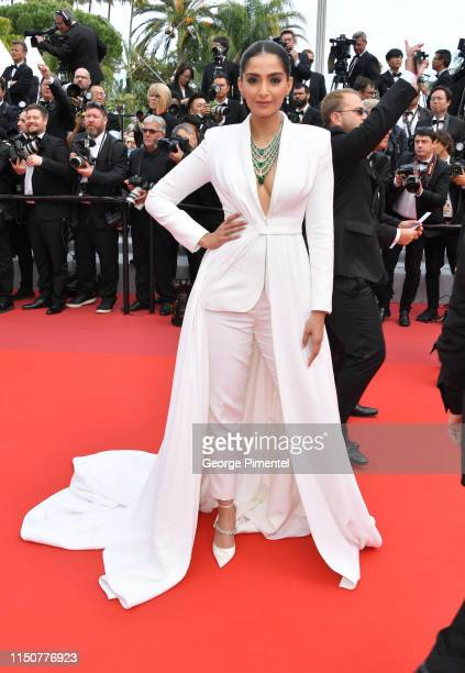 Sonam Kapoor attends the screening of Once Upon A Time In Hollywood during the 72nd annual Cannes Film Festival on May 21 2019 in Cannes France
