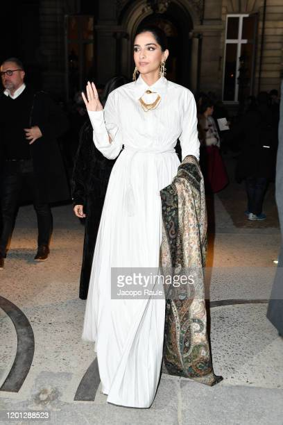 Sonam Kapoor attends the Valentino Haute Couture Spring/Summer 2020 show as part of Paris Fashion Week on January 22 2020 in Paris France