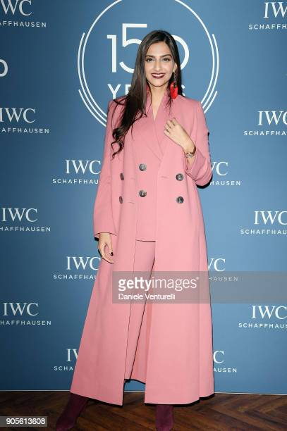 Sonam Kapoor is seen at IWC Schaffhausen at SIHH 2018 on January 16 2018 in Geneva Switzerland