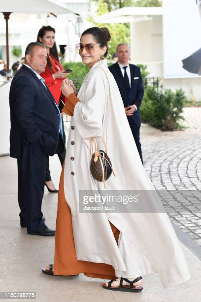 Sonam Kapoor is seen during the 72nd annual Cannes Film Festival at on May 19 2019 in Cannes France