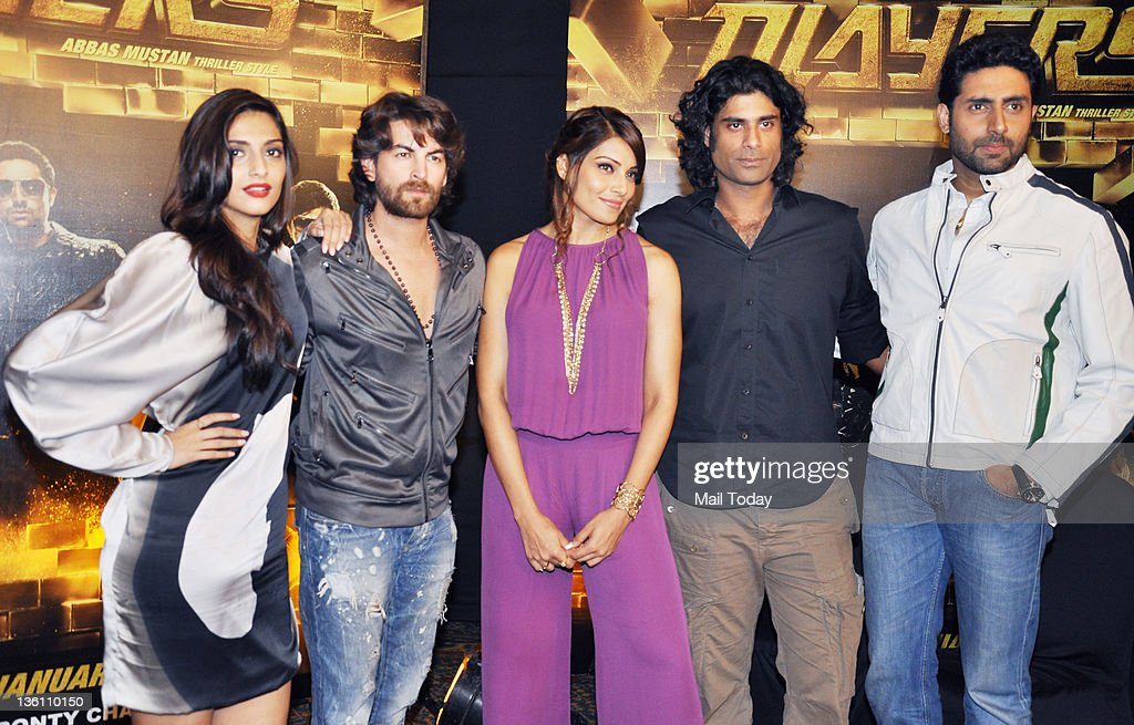 Sonam Kapoor Neil Nitin Mukesh Bipasha Basu Sikander Kher and Abhishek Bachchan during the promotion of the movie `Players` at JW Marriott in Mumbai..