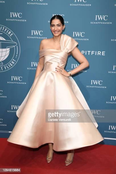 Sonam Kapoor walks the red carpet for IWC Schaffhausen at SIHH 2019 on January 15 2019 in Geneva Switzerland