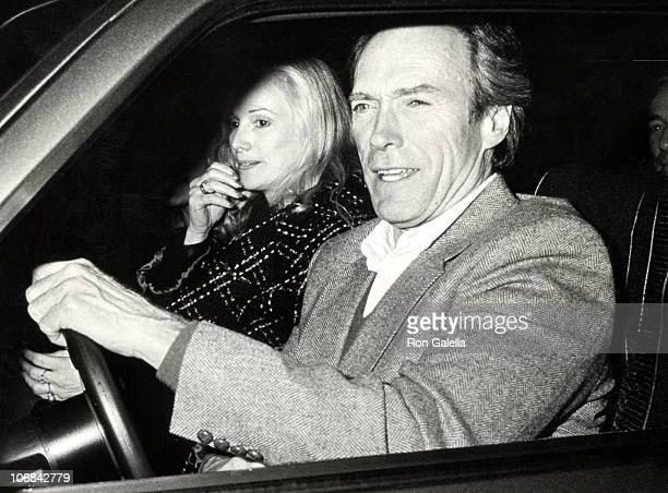 Sondra Locke and Clint Eastwood during Clint Eastwood and Sondra Locke Sighting at Spago's Restaurant in Hollywood January 22 1988 at Spago's...