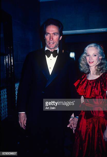 Sondra Locke with Clint Eastwood attending a formal event circa 1970 New York