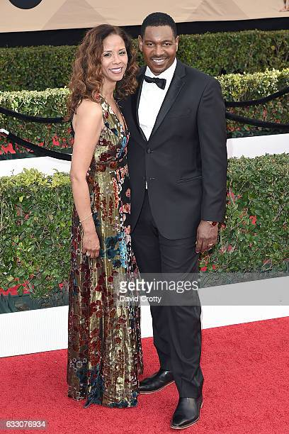 Sondra Spriggs and Mykelti Williamson attend the 23rd Annual Screen Actors Guild Awards Arrivals at The Shrine Expo Hall on January 29 2017 in Los...