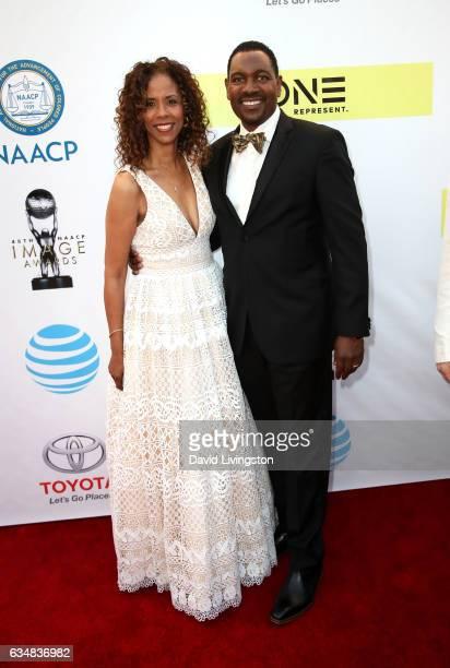 Sondra Spriggs and Mykelti WIlliamson attend the 48th NAACP Image Awards at Pasadena Civic Auditorium on February 11 2017 in Pasadena California