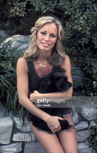 Sondra Theodore during Hugh Hefner Hosts a Tennis and Crumpet Tournament May 21 1977 at Playboy Mansion in Beverly Hills California United States