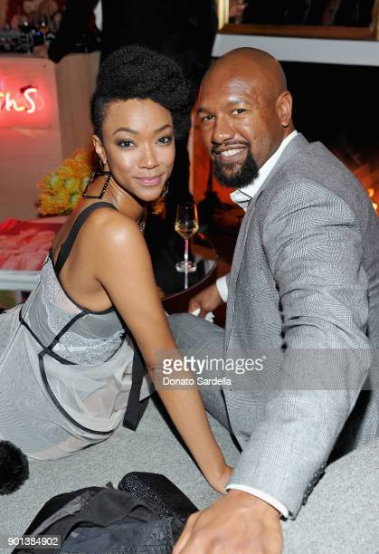 Sonequa Martin and Kenric Green attend W Magazine's Celebration of its 'Best Performances' Portfolio and the Golden Globes with Audi Dior and Dom...