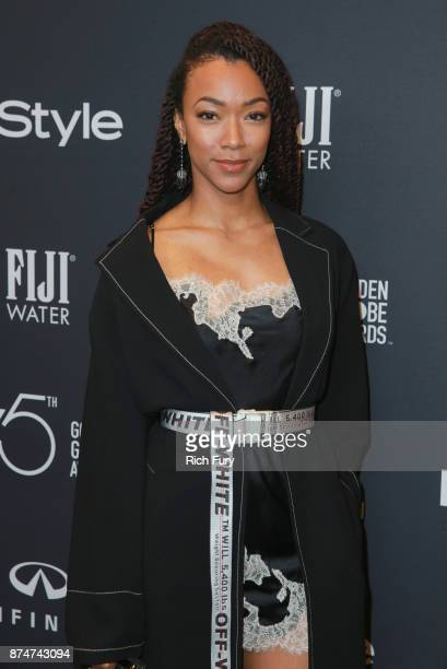 Sonequa Martin attends the Hollywood Foreign Press Association and InStyle celebrate the 75th Anniversary of The Golden Globe Awards at Catch LA on...