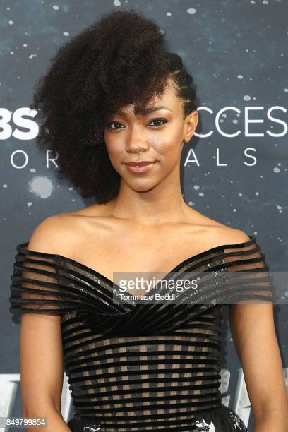 Sonequa Martin attends the premiere of CBS's 'Star Trek Discovery' at The Cinerama Dome on September 19 2017 in Los Angeles California