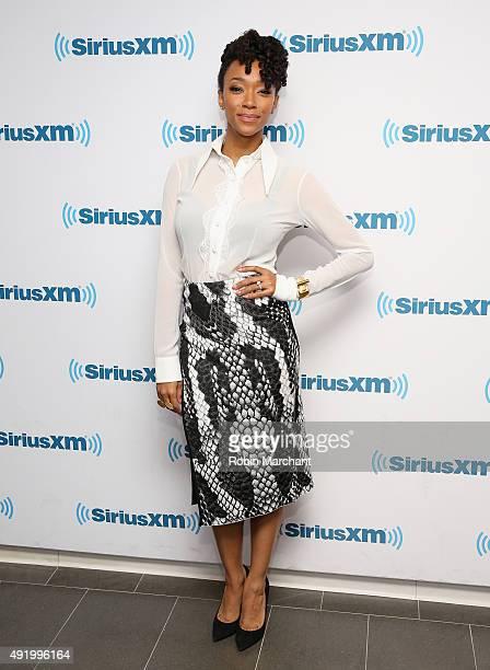 Sonequa Martin Green visits at SiriusXM Studios on October 9, 2015 in New York City.