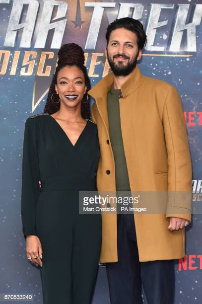 Sonequa MartinGreen and Shazad Latif pictured at a Star Trek Discovery fan screening at Milbank Tower in London PRESS ASSOCIATION Photo Picture date...