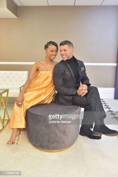 Sonequa MartinGreen and Wilson Cruz attend The 21st CDGA at The Beverly Hilton Hotel on February 19 2019 in Beverly Hills California