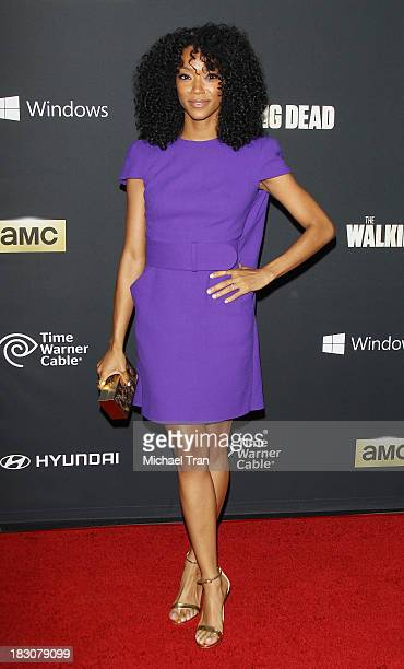 """Sonequa Martin-Green arrives at the Los Angeles premiere of AMC's """"The Walking Dead"""" 4th season held at Universal CityWalk on October 3, 2013 in..."""