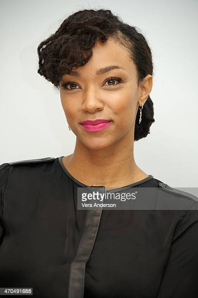Sonequa MartinGreen at 'The Walking Dead' Press Conference at the Four Seasons Hotel on April 20 2015 in Beverly Hills California