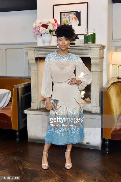 Sonequa MartinGreen attends Lynn Hirschberg Celebrates W Magazine's It Girls With Dior at AOC on January 6 2018 in Los Angeles California