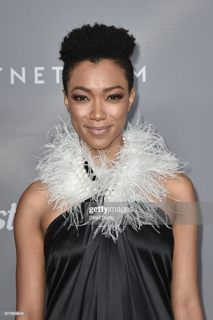 Sonequa Martin-Green attends the 20th CDGA (Costume Designers Guild Awards) - Arrivals on February 20, 2018 in Beverly Hills, California.