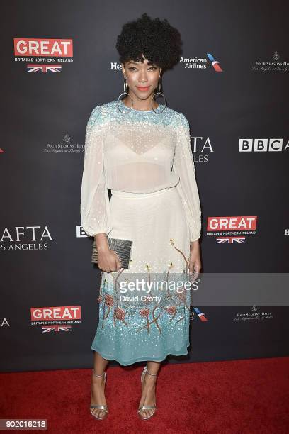 Sonequa Martin-Green attends The BAFTA Los Angeles Tea Party - Arrivals at Four Seasons Hotel Los Angeles at Beverly Hills on January 6, 2018 in Los...
