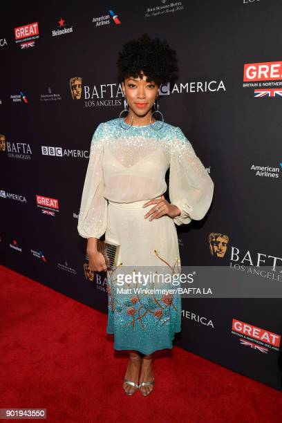 Sonequa MartinGreen attends The BAFTA Los Angeles Tea Party at Four Seasons Hotel Los Angeles at Beverly Hills on January 6 2018 in Los Angeles...