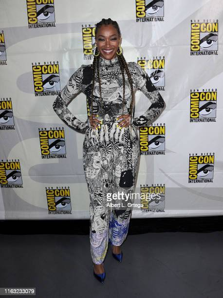 """Sonequa Martin-Green attends the """"Enter The Star Trek Universe"""" Panel during 2019 Comic-Con International at San Diego Convention Center on July 20,..."""