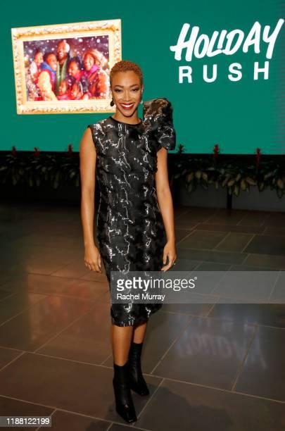 Sonequa Martin-Green attends the Netflix 'Holiday Rush' Cast & Crew Screening at NETFLIX on November 16, 2019 in Los Angeles, California.