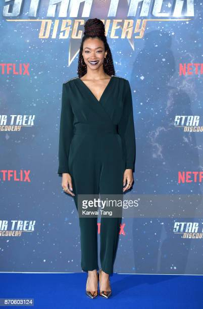 Sonequa MartinGreen attends the 'Star Trek Discovery' photocall at Millbank Tower on November 5 2017 in London England