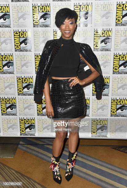 Sonequa Martin-Green attends the 'Star Trek: Discovery' Press Conference and Red Carpet during Comic-Con International 2018 at Hilton Bayfront on...