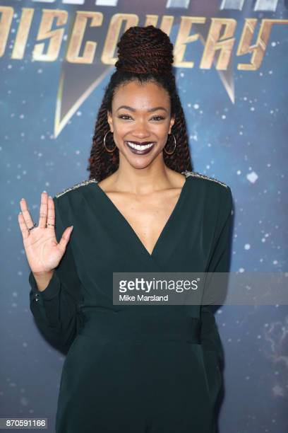 Sonequa MartinGreen during the 'Star Trek Discovery' photocall at Millbank Tower on November 5 2017 in London England