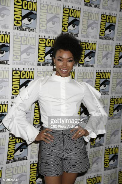 Sonequa MartinGreen during the 'Star Trek Discovery' press conference at ComicCon 2017 held in San Diego Ca
