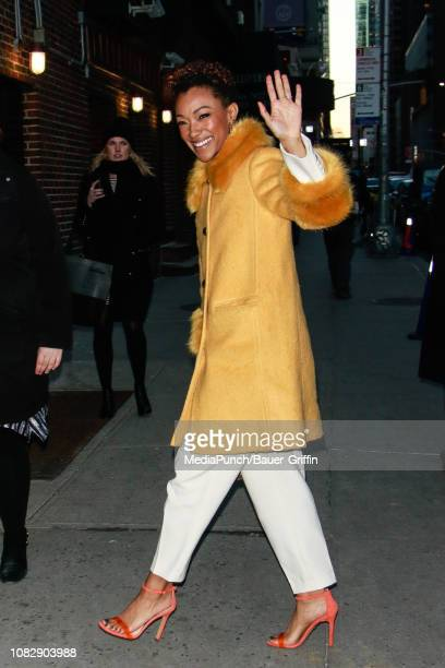 Sonequa Martin-Green is seen on January 14, 2019 in New York City.