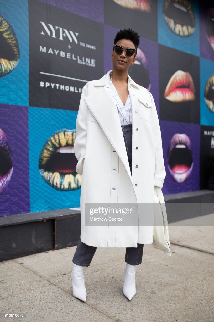 Street Style - New York Fashion Week February 2018 - Day 3