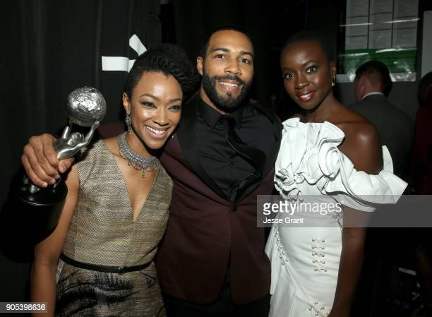 Sonequa MartinGreen Omari Hardwick winner of Outstanding Actor in a Drama Series for 'Power' and Danai Gurira attend the 49th NAACP Image Awards at...