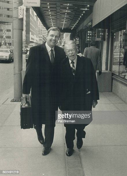 Sonfather duo Paul Martin Jr who is touted as a successor to Liberal leader John Turner leaves the hotel with his 84yearold father veteran Canadian...