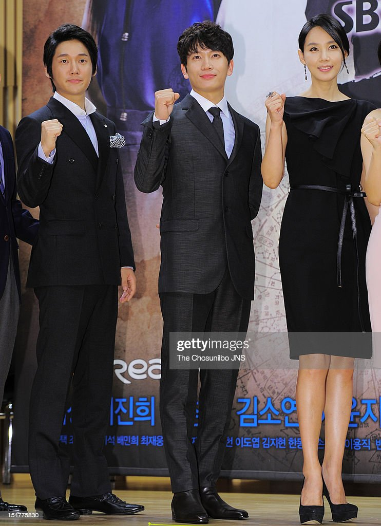 Song Chang-Eui, Ji Sung, and Oh Hyun-Kyung attend the SBS Drama 'The Great Seer' Press Conference at SBS Building on September 26, 2012 in Seoul, South Korea.