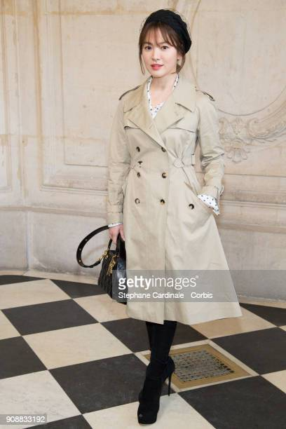 Song Hye Kyo attends the Christian Dior Haute Couture Spring Summer 2018 show as part of Paris Fashion Week January 22 2018 in Paris France
