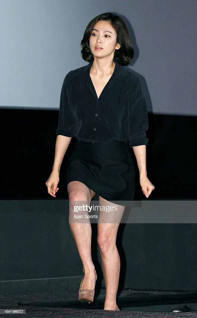 Song Hye-Kyo attends the movie 'My Brilliant Life' press premiere at Wangsimni CGV on August 21, 2014 in Seoul, South Korea.