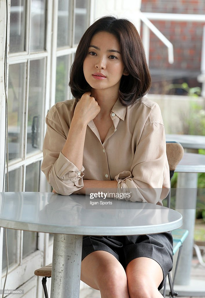 Song Hye-Kyo poses for photographs on August 25, 2014 in Seoul, South Korea.