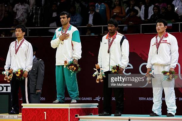 Song Jae Myung of Republic of Korea /, Seyed Morad Mohammedi Pahnehkalaei of Islamic Republic of Iran , Yogeshwar Dutt of India and Ri Yong Chol of...