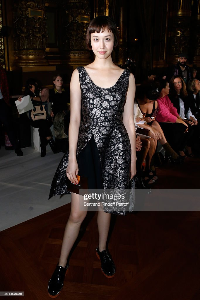 Song Jia attends the Stella McCartney show as part of the Paris Fashion Week Womenswear Spring/Summer 2016. Held at Opera Garnier on October 5, 2015 in Paris, France.